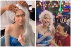 Ngọc Trinh bị đụng chạm phần nhạy cảm khi cosplay công chúa Elsa phiên bản 'bà già bị bệnh'
