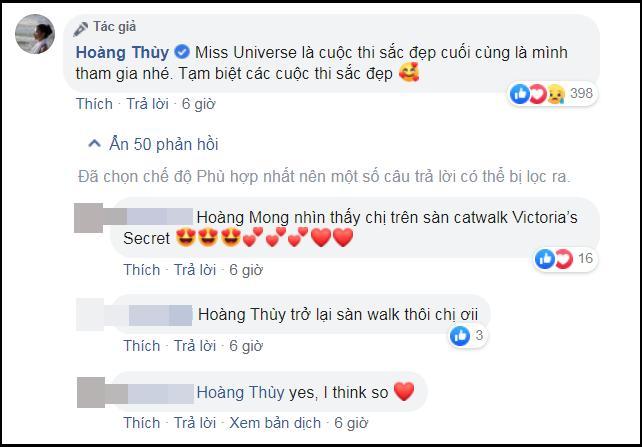 Hoàng Thùy tuyên bố dừng thi sắc đẹp sau Miss Universe 2019, người hâm mộ nói gì?-2