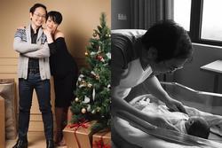 Lên chức 'mẹ bỉm sữa', MC Phí Linh tự nhắc bản thân phải yêu chồng nhiều hơn