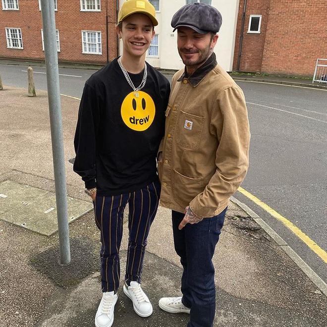Con trai 17 tuổi của David Beckham khoe ảnh cao hơn bố-1