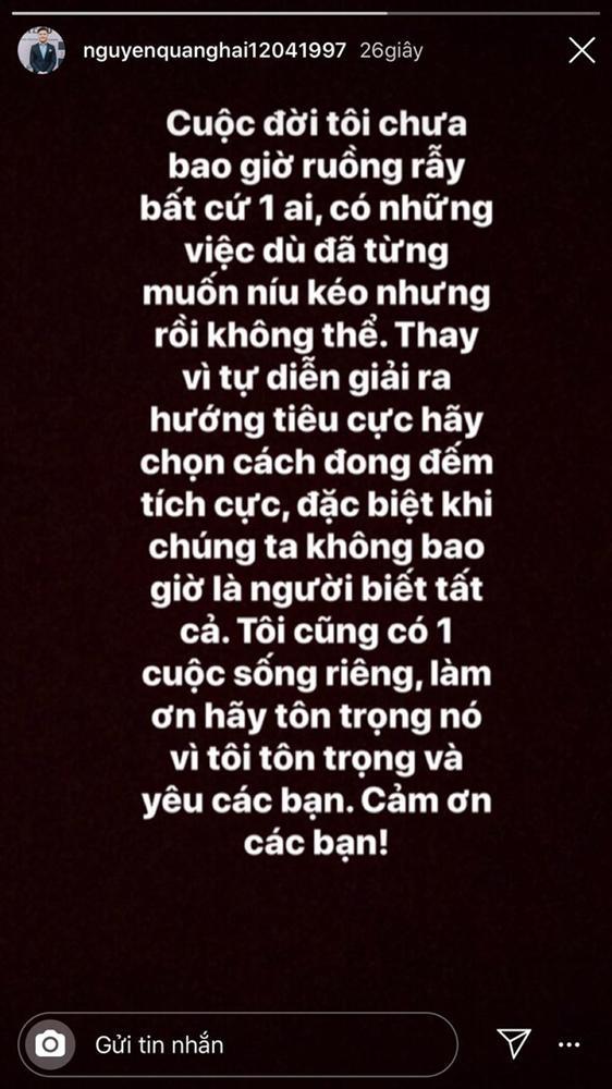 Bạn gái tin đồn của Quang Hải bị mỉa mai thích sân si khi liên tục đăng status đá xéo Nhật Lê-3