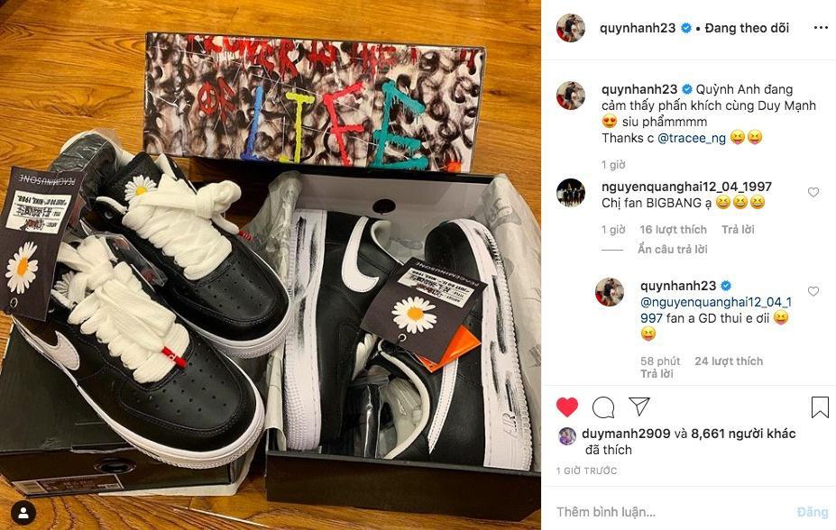 Dàn cầu thủ Việt, ca sĩ nổi tiếng sở hữu đôi giày hoa cúc của G-Dragon-3