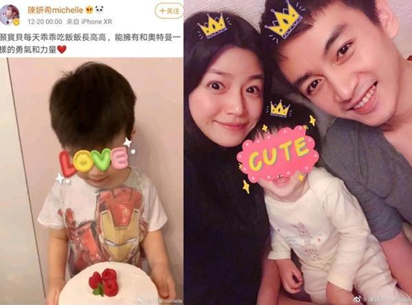 Tiểu Long Nữ Trần Nghiên Hy đăng hình con trai 3 tuổi-1