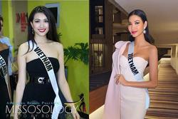Hoàng Thùy và Lệ Hằng 'quên' mặc áo dài tại Hoa hậu Hoàn vũ