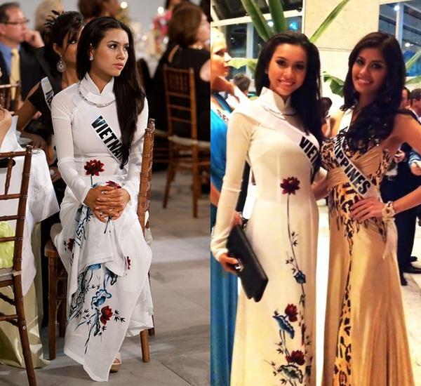Hoàng Thùy và Lệ Hằng quên mặc áo dài tại Hoa hậu Hoàn vũ-8
