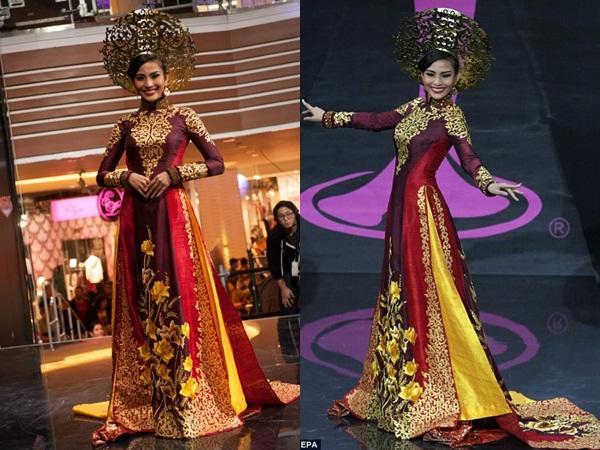 Hoàng Thùy và Lệ Hằng quên mặc áo dài tại Hoa hậu Hoàn vũ-11