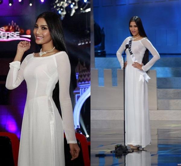 Hoàng Thùy và Lệ Hằng quên mặc áo dài tại Hoa hậu Hoàn vũ-12