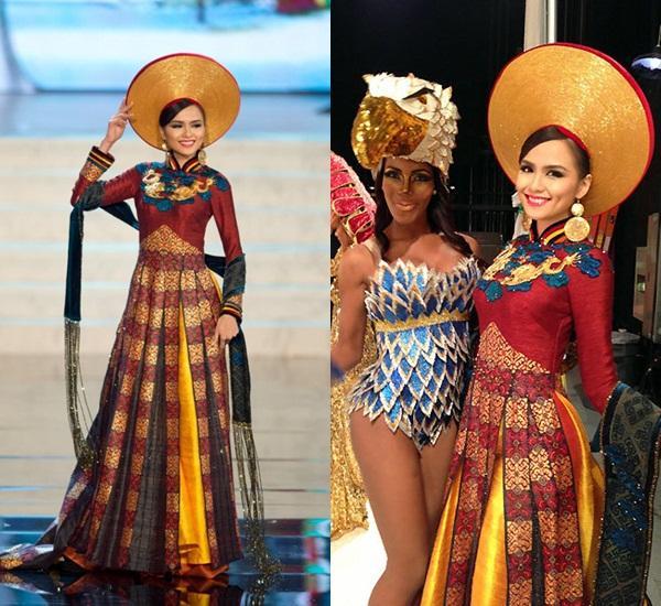 Hoàng Thùy và Lệ Hằng quên mặc áo dài tại Hoa hậu Hoàn vũ-9