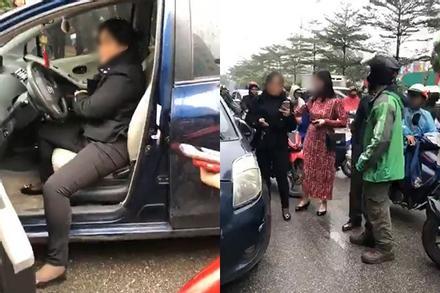 Nữ tài xế đâm trúng 2 mẹ con đi xe máy, đã không xin lỗi còn thách thức: 'Mày gọi trưởng công an quận tao cho mày luôn số, mày gọi đi'
