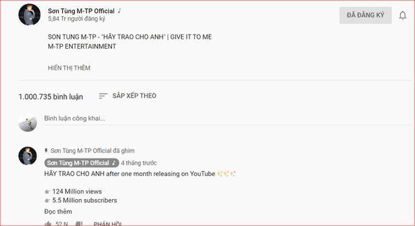 Hãy trao cho anh trở thành MV đầu tiên ở Việt Nam đạt 1 triệu comment-1