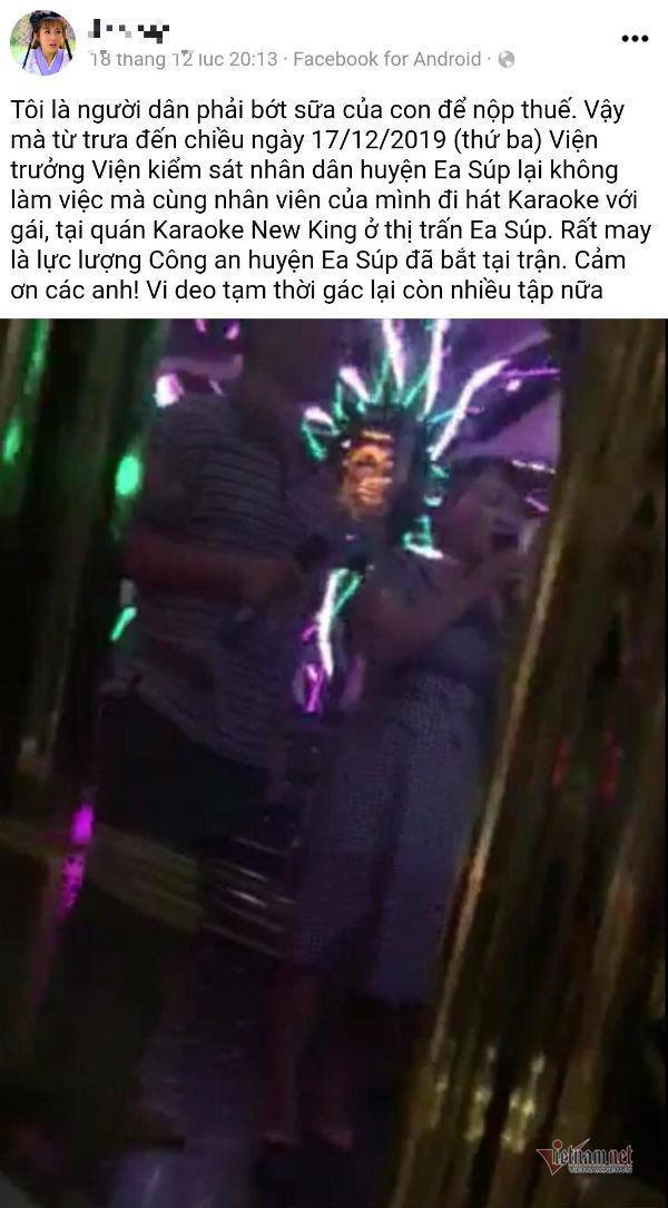 Nghi vấn Viện trưởng KSND ở Đắk Lắk đi hát karaoke ôm bị quay clip-2
