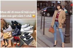 Hương Giang sắm liền tay 8 đôi giày hiệu giá hơn trăm triệu đồng để diện dịp lễ hội