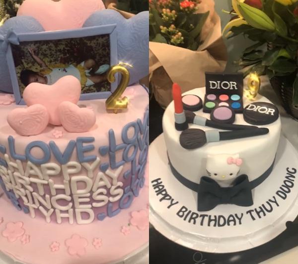 Hôn phu ngoại quốc mua 3 bánh kem cỡ lớn, giấu cả dây tiền 500.000 bên trong mừng sinh nhật Thùy Dương-4