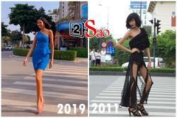 GÓC ĐÀO MỘ: Cùng catwalk ở ngã tư, Hoàng Thùy 2019 khác Hoàng Thùy 2011 như thế nào?