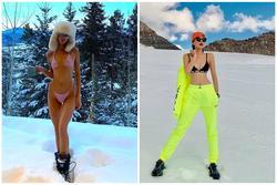 Kendall Jenner dẫn đầu trào lưu mặc bikini giữa trời tuyết