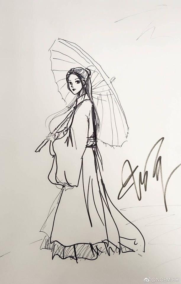 Minh tinh Hoa ngữ đọ tài vẽ tranh: Vương Nhất Bác và Tiêu Chiến múa bút đẹp bất ngờ-8