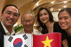 Vợ chồng Tăng Thanh Hà khoe ảnh chụp cùng HLV Park Hang Seo, nhan sắc 'ngọc nữ' gây chú ý