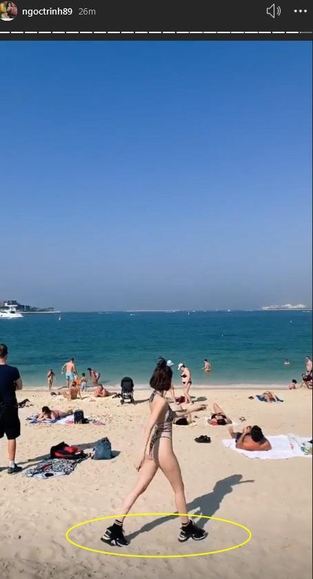 Mặc bikini nhỏ xíu cưỡi lạc đà, Ngọc Trinh khoe body 30 vẫn còn xuân trên đất Dubai sang chảnh-4
