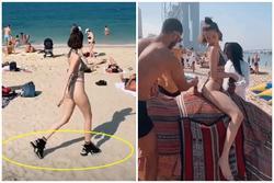 Mặc bikini nhỏ xíu cưỡi lạc đà, Ngọc Trinh khoe body '30 vẫn còn xuân' trên đất Dubai sang chảnh