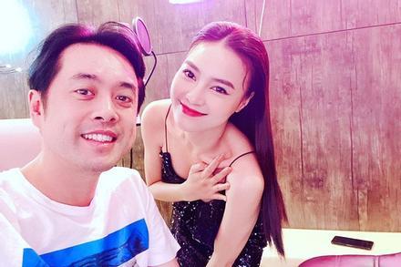 Ninh Dương Lan Ngọc che chắn vòng 1 cẩn thận khi chụp hình cùng Dương Khắc Linh