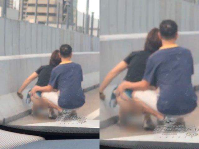 Người phụ nữ tụt quần phóng uế giữa đường, hành động tiếp tay của người đàn ông còn phẫn nộ hơn-1