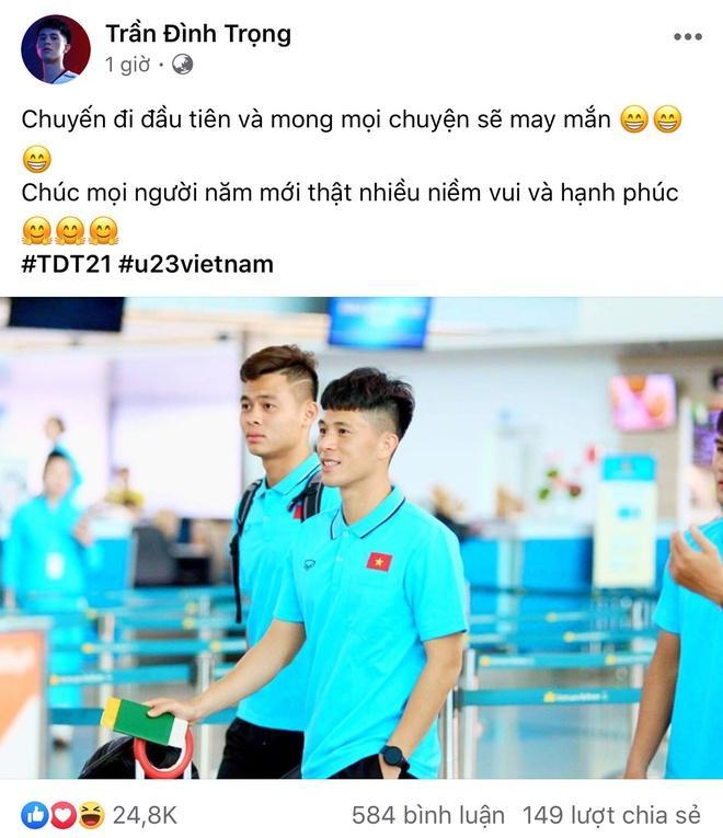 Đức Chinh, Đình Trọng và dàn cầu thủ U23 check-in sang Thái Lan-1