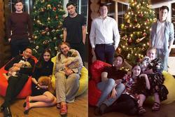 Gia đình Văn Lâm chụp hình ngày đầu năm mới giống hệt 2 năm trước