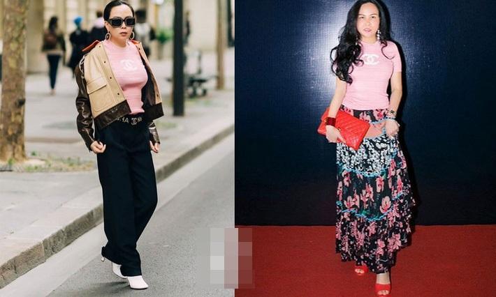 Sắc hồng ngọt ngào là thế mà hễ Phượng Chanel mặc là y như rằng bầu trời thời trang sụp đổ-9