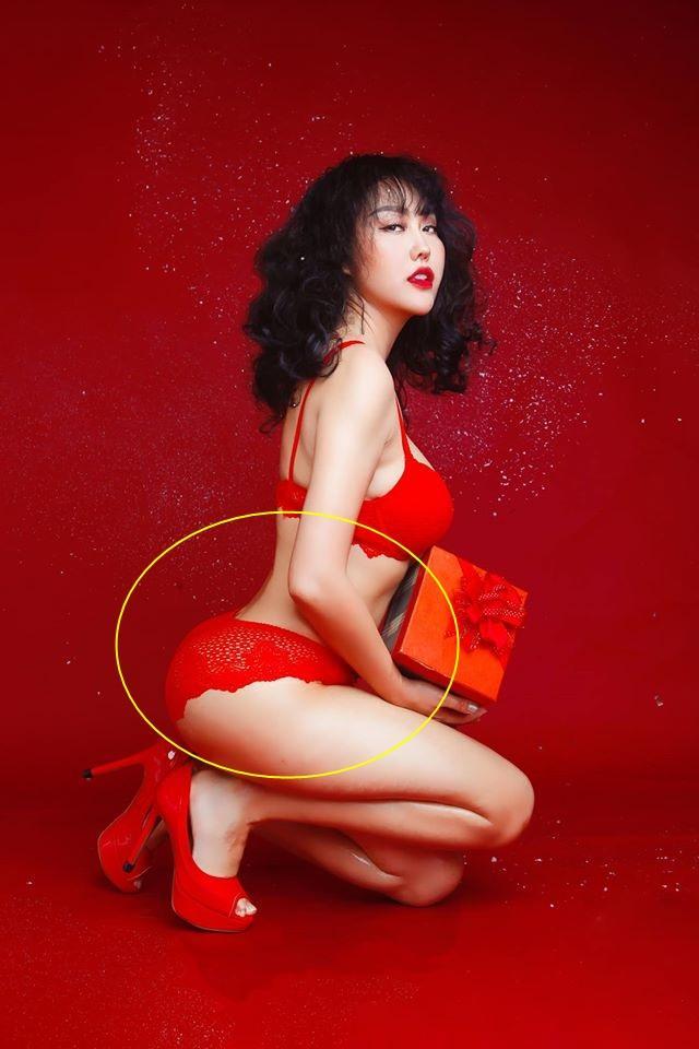 Phi Thanh Vân chào xuân bằng bộ ảnh nội y nóng bỏng nhưng rõ rành rành photoshop quá tay-1