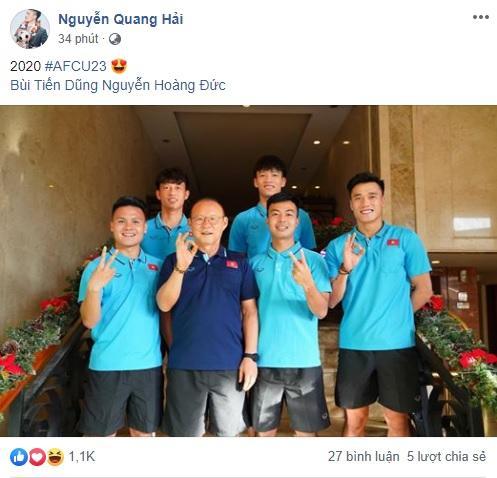 Quang Hải rủ thầy Park, Bùi Tiến Dũng chụp ảnh tươi rói ở Thái Lan-1