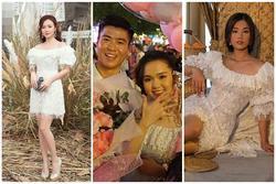 Váy Quỳnh Anh mặc trong ngày Duy Mạnh cầu hôn từng được Midu, Hoàng Yến diện đẹp xuất sắc