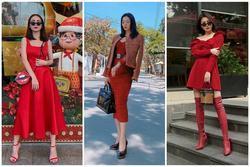Dàn mỹ nhân Việt đồng loạt lên đồ nhuốm sắc đỏ: Lệ Quyên lại xách túi giá bằng cả căn hộ