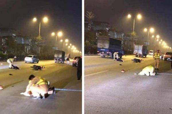 Nam thanh niên tông thẳng xe máy vào thượng úy CSGT Hà Nội-1