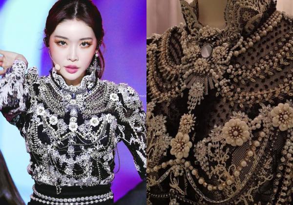 Là cây rụng tiền của công ty, Chungha gây choáng với loạt outfit không giá nghìn đô thì cũng đính đá lồng lộn-6