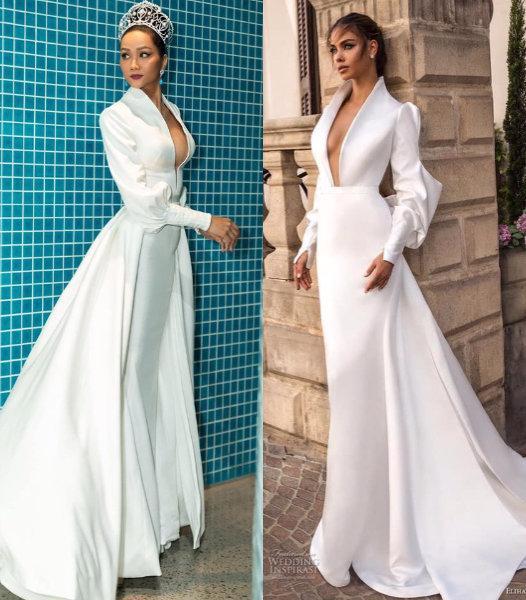 Khổ như HHen Niê đẹp ngời ngời mà vẫn dính án váy đạo nhái nhiều nhất Vbiz năm 2019-1