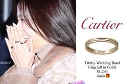 Jennie (BlackPink) tặng nhẫn Cartier giá hơn 1.200 USD cho Jisoo