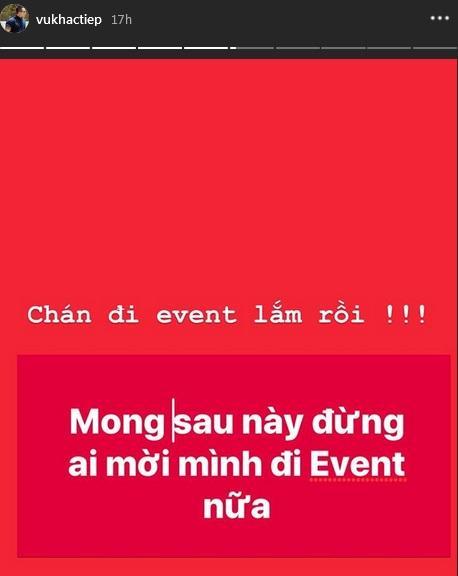 Giữa tâm bão bị giang hồ đánh vì thiếu nợ, Vũ Khắc Tiệp ẩn ý: Đừng ai mời đi event nữa-2