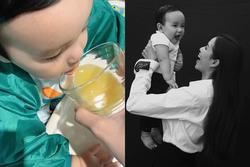 Phát sốt với hình ảnh 'măm măm' dễ thương của quý tử nhà Phạm Hương