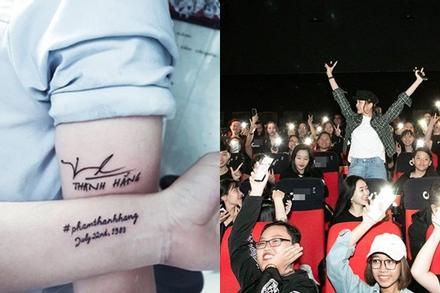 'Chơi lớn' như fans Thanh Hằng: Xăm thần tượng lên người, bao nguyên cả rạp chiếu