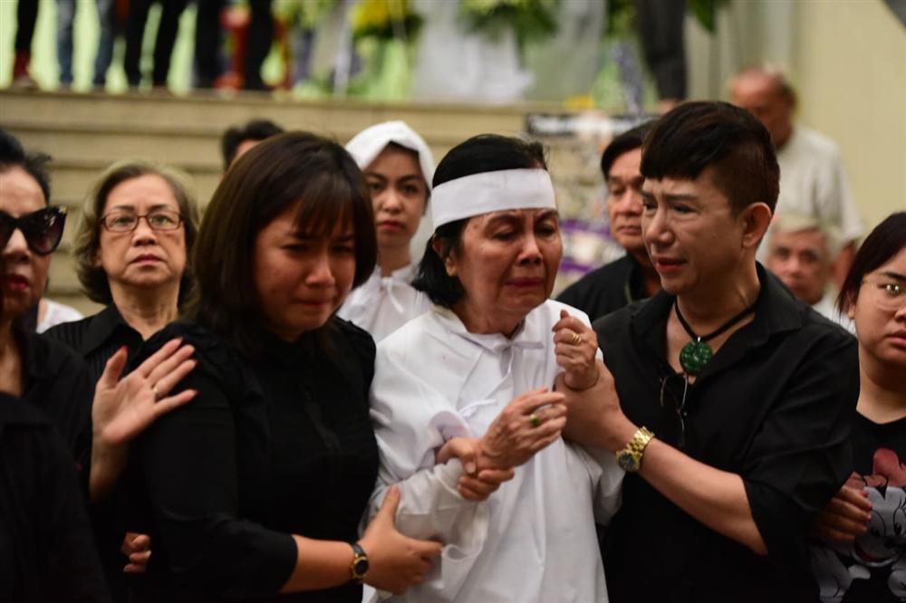 Vợ cố nghệ sĩ Chánh Tín khóc cạn nước mắt, lả trên phố khi đưa chồng đi hỏa táng-6