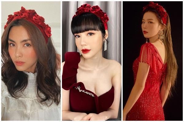 Cùng đeo bờm nhung: Hà Tăng hack cả chục tuổi - Elly Trần biến thành đóa hoa hồng-9