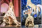 Thảm họa trang phục dân tộc trong lịch sử: Váy dạ hội kiêm luôn National costume, 1 mẫu mang đi thi 2 lần