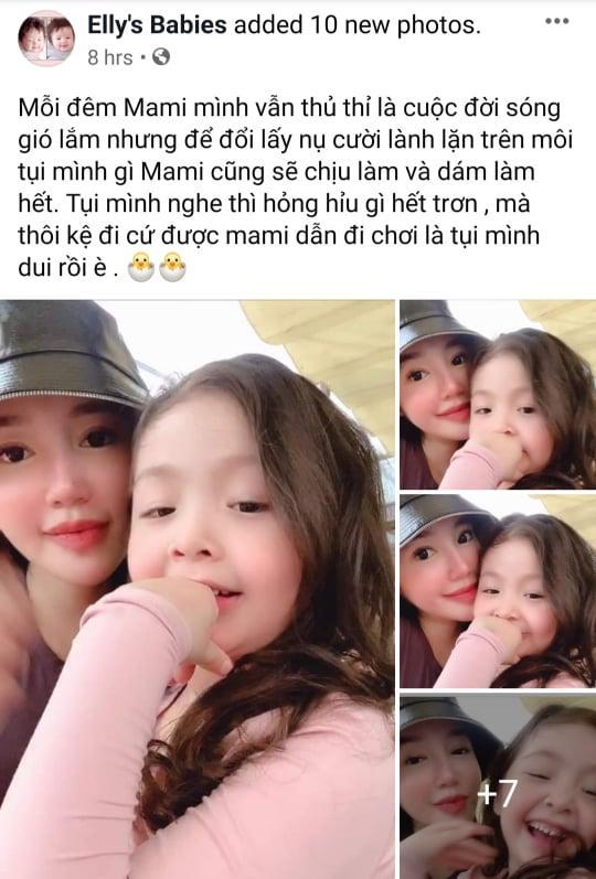 Giữa nghi vấn bị chồng Tây cắm sừng, Elly Trần viết status khó hiểu gửi hai con thơ-3