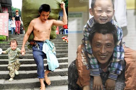 Cuộc sống hai bố con làm nghề bốc vác nổi tiếng trên mạng nhờ một tấm hình, sau 10 năm bây giờ ra sao?