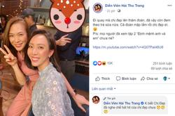 Thu Trang bất ngờ tiết lộ hình ảnh hậu trường phim mới có Mỹ Tâm