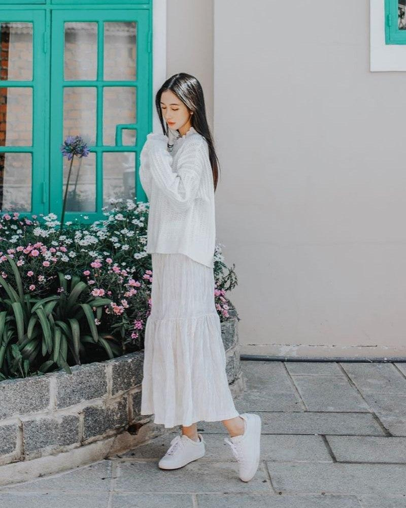 jun-vu Tiểu Vy lộ dáng gầy gò, Diệu Nhi lên đồ phá cách với outfit họa tiết hoạt hình