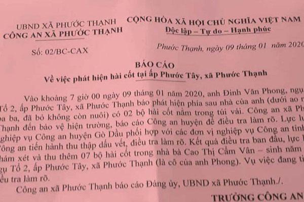 Phát hiện 9 bộ hài cốt ở Tây Ninh, Bộ Công an vào cuộc-1