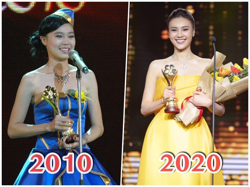 Cùng nhận giải Mai Vàng mà Ninh Dương Lan Ngọc 2010 mặc áo fan tặng, 2020 đã diện trang sức bạc tỷ-8