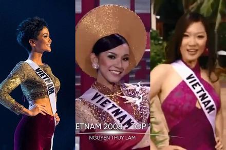 12 đại diện Việt Nam tại Miss Universe: Chỉ H'Hen Niê được xướng tên 3 lần nghe đã tai