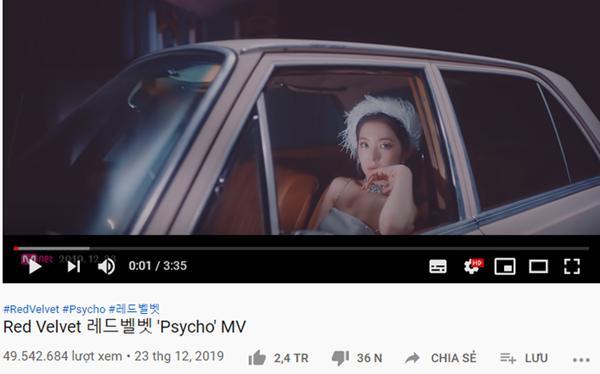 Psycho của Red Velvet chính thức trở thành MV đạt mốc gần 50 triệu view nhanh nhất SM-2